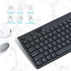 Image 3 - Rapoo K2800 Wireless TV Keyboard with Touchpad, Easy Media Control and Built in Big Size Touchpad