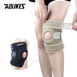AOLIKES 1PCS Adjustable Sports Training Elastic Knee Support Brace Kneepad Adjustable Patella Knee Pads Hole Kneepad Safety