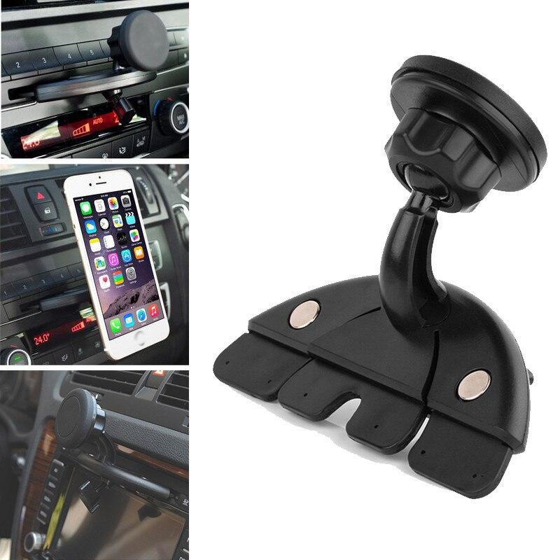 Car Phone Holder for mobile phone 360 Rotation Holder Plastic Car CD Slot Mount Multifunctional Holder Stand for Mobile Phones
