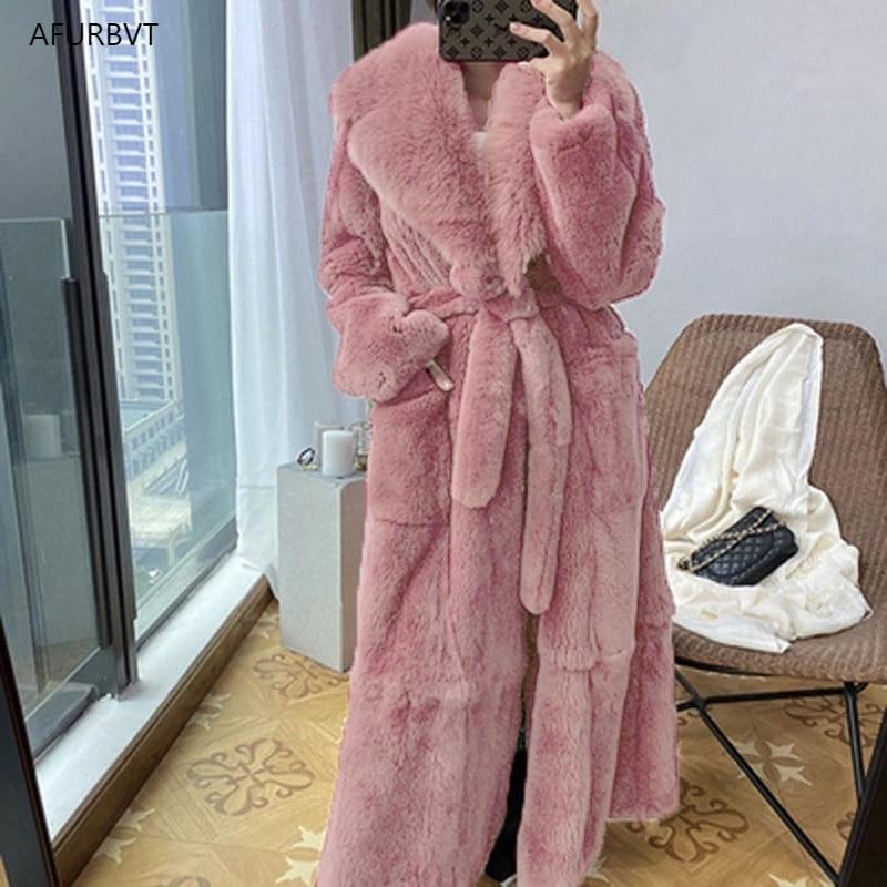 Parka Women Fur Coats 2020 Thick Winter Outwear Warm Long Faux Fur Jacket Female Temperament Slim Overcoat Plus Size S-5XL