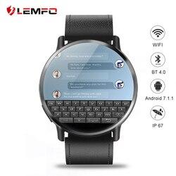 LEMFO LEM X Smart Uhr 4G Android 7,1 2,03 zoll 640*590 Bildschirm 8MP Kamera GPS 900Mah batterie Ersatz Band Android Männer