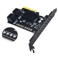 To PCI E Riser Card Support For RAID 4 Port 6G Hard Disk Expansion Card Extended Drive SATA 3.0 Adapter 88SE9230 For RAID Card