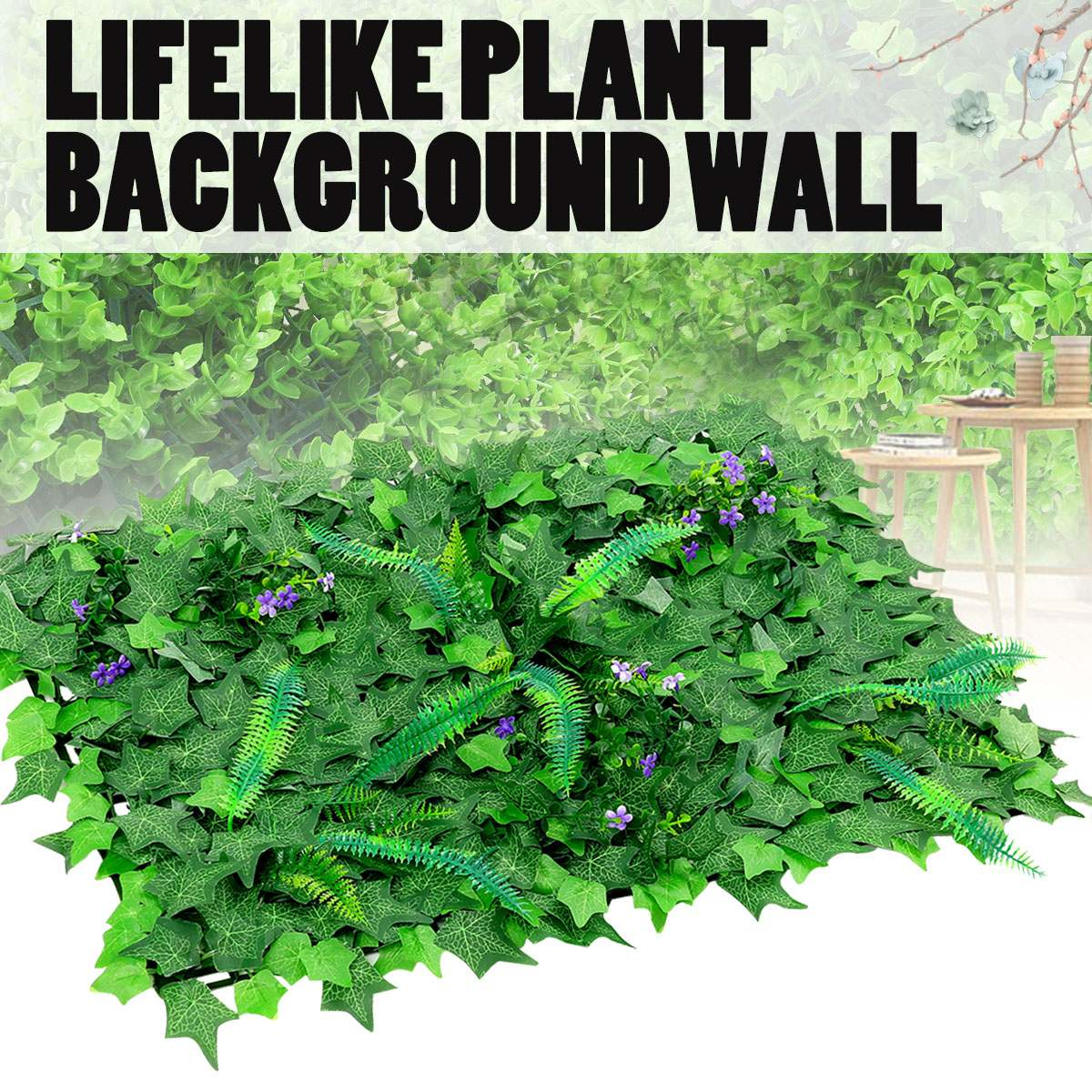 Plastic Artificial Lawn Plant Real touch Moss Fake Grass Mat Greenery Panel Fence Micro Landscape font