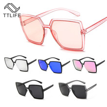 TTLIFE Oversized Sunglasses Women Big Frame Square Sun Glasses Men Brand Designer 2019 New Vintage Gradient Shades Eyewear UV400 2019 newest square frame vintage sunglasses women oversized big size sun glasses for men female shades gold gray uv400 eyewear