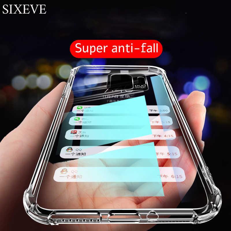 Limpar Bumper Capa de Silicone Para Samsung S10E S4 S5 S6 S7 S8 S9 Plus A6 A7 A8 A9 2018 M10 m20 M30 A30 A40 A50 A60 A70 A80 Capa