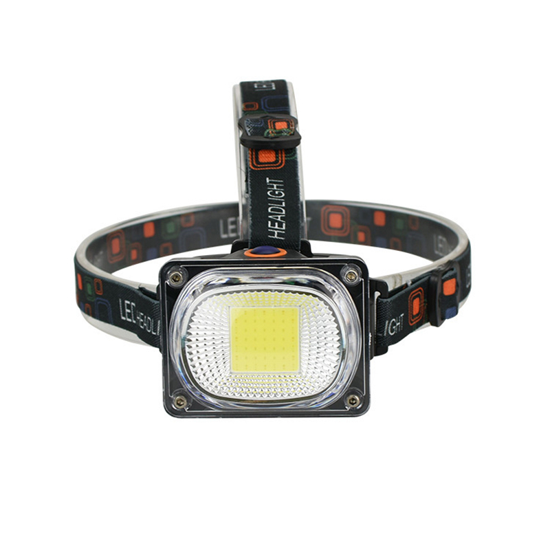 XANES SYT002 850LM COB Headlamp 3 Modes Night Warning Light Camping Hunting Portable Emergency Lantern 18650 Torch Lantern
