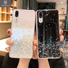 Do Brilho de Bling Caso de Silicone macio Para Huawei Companheiro 20 P10 Plus P20 P30 Lite Pro honra V 10 20 Pro lite Nova 3i 3 4 e Lantejoulas Cobrir