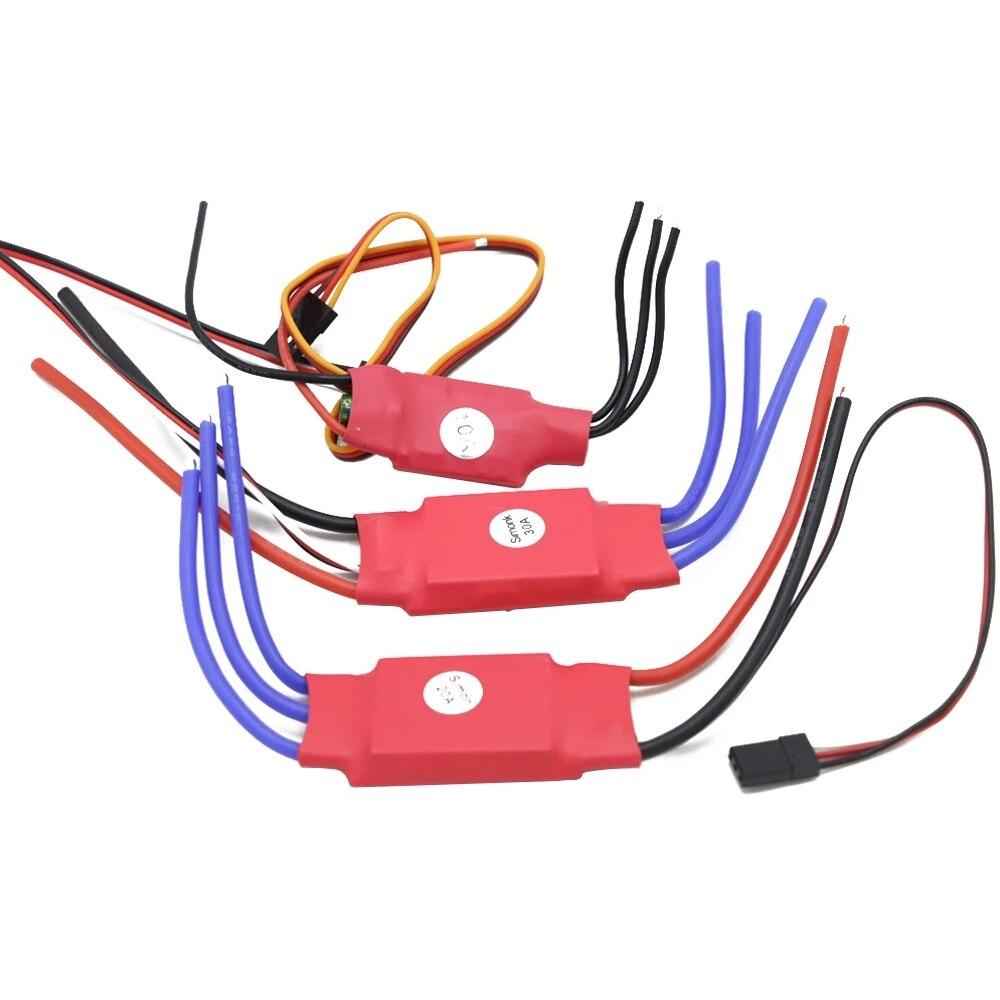 Электронный регулятор скорости Simonk 10A/20A/30A с прошивкой, RC ESC для радиоуправляемого мультикоптера, самолета, квадрокоптера, дрона, игрушки