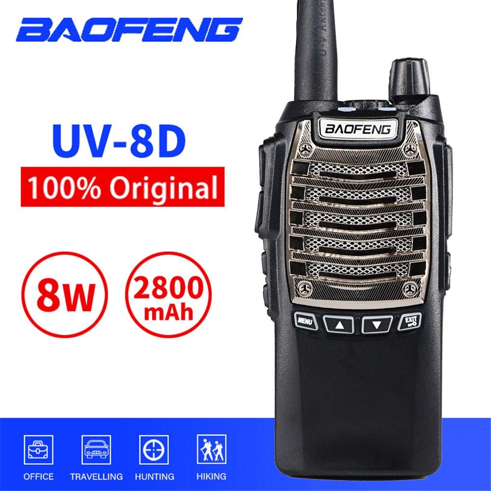 10km Baofeng Walkie Talkie UV-8D 8W 2800mAh Portable CB Radio Comunicador Hand Free 128 Channels Two-way Radio With Flashlight