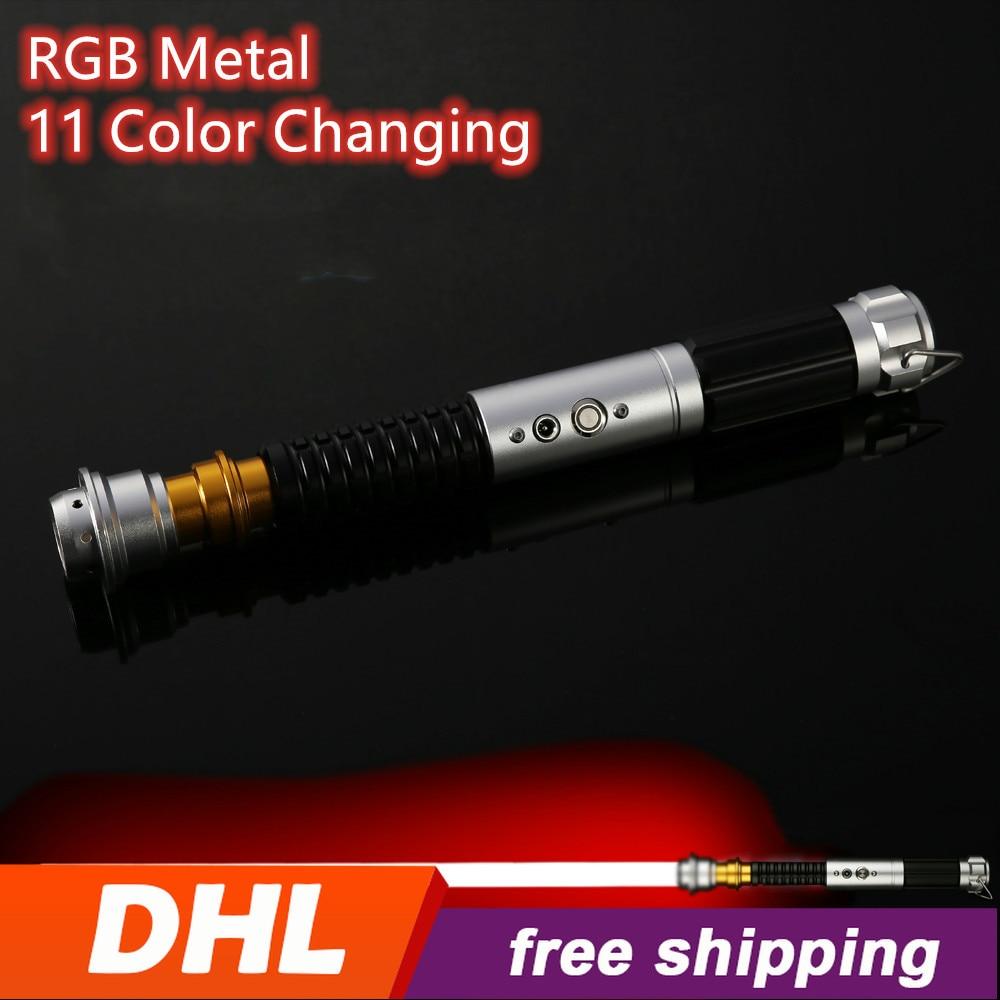 Force FX Lightsaber RGB Light Saber With Sound Toy Jedi Laser Saber Skywalker Lightsaber Heavy Dueling Loud Sound Metal Handle
