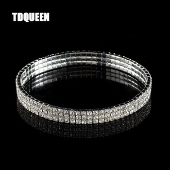 3-Row Three Row Sparkly Crystal Rhinestone Stretch Cz Tennis Ankle Chain Sexy Anklet Bridal Wedding Accessories for Women