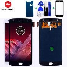 Motorola AMOLED LCD ekran Motorola Moto Z2 oyun 5.5 inç 1920*1080 dokunmatik ekran Digitizer meclisi ücretsiz temperli cam