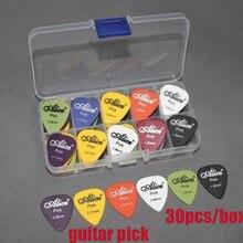 30 шт. акустический Электрический 6 толщина мешок для сбора Ассорти+ гитарные комплекты медиаторов(Цвет: многоцветный) в комплекте коробка