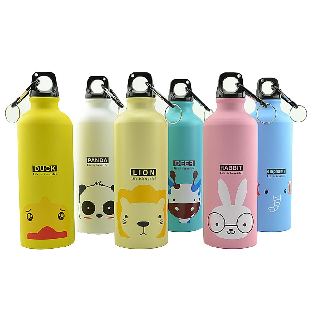 500ml Kids Water Bottle Water Bottle Modern Design Lovely Animals Portable Sports Cycling Camping Bicycle School Hiking Outdoor image