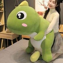 55-140CM Big Size Long Lovely Dinosaur Plush Toy Soft Cartoon Animal Dinosaur Stuffed Doll Pillow for Kids Girl Birthday Gift