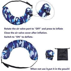 Портативный плавательный тренажер для детей, надувная подушка для шеи для путешествий на самолете, ALS88