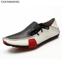 Mocasines de cuero genuino para hombre Zapatos casuales Mocasines de conductor