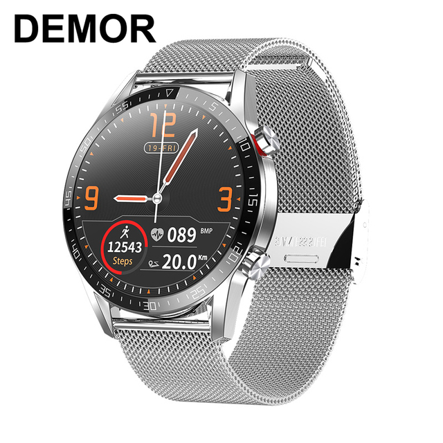 $ US $43.98 DEMOR KT33 Smart Watch Connected IP68 Waterproof ECG PPG Heart Rate Blood Pressure Monitor Men Smartwatch for iOS iPhone Android