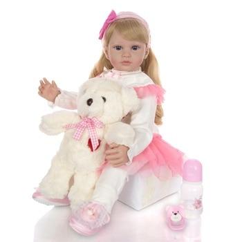 KEIUMI 24 Inch Reborn Baby Girl Doll 60 cm Soft Vinyl Cloth Body Princess Doll Lifelike Boneca bebe Reborn Kids Best Playmate