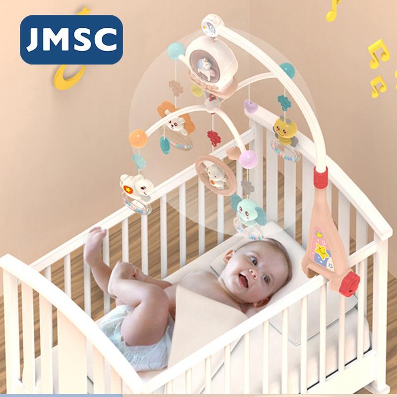 JMSC Baby Crib Remote Mobiles Rattles Music