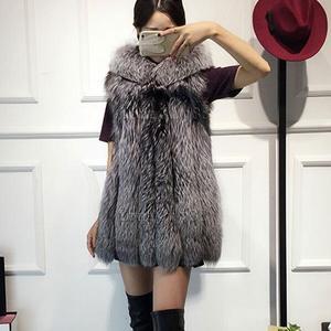 Mais tamanho colete 2020 pele de raposa do falso colete com capa de pele grossa quente feminino outerwear casaco de pele do falso mex chaquetas mujer df612