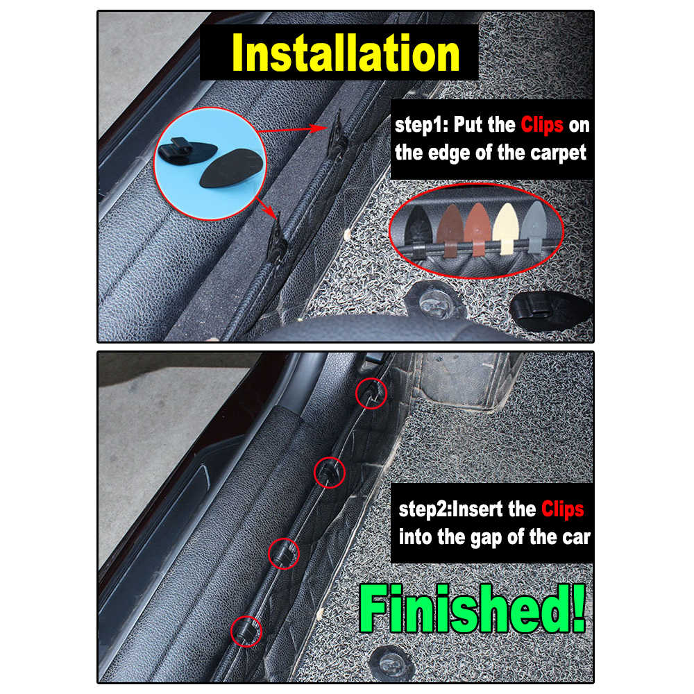 8Pcsรถเสื่อชั้นAnti-Slipคลิปสีน้ำตาลUniversal Fixing Grips Clampsผู้ถือAutoภายในRetainer Carการเก็บรักษา