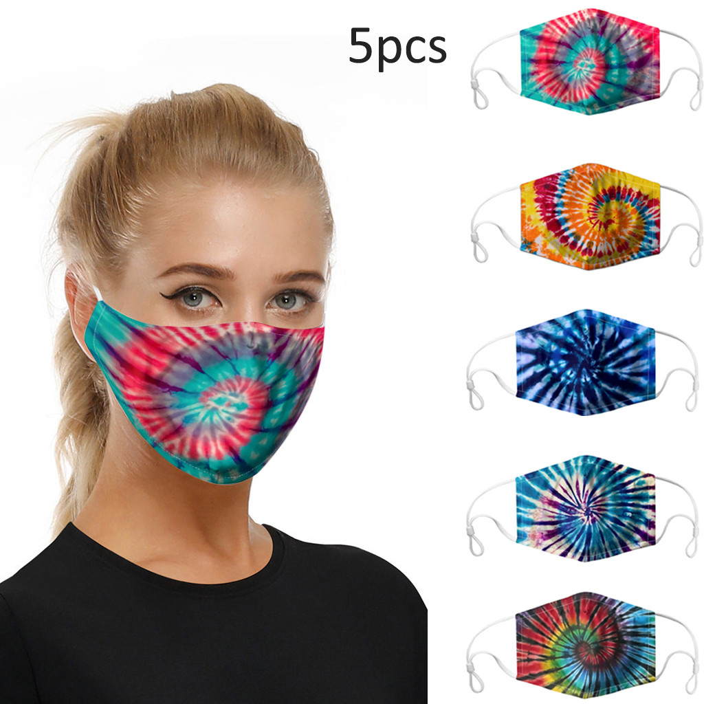 Creative Painted Printing Masks Outdoor anti-pollution Replaceable Gasket Washable ear-hook double-layer DIY Mask Unisex New