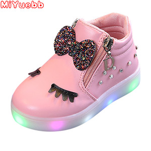 Детская обувь для девочек 2020new Fashion, детская светящаяся обувь принцессы с бантом, обувь для девочек с подсветкой, милые детские кроссовки на ...