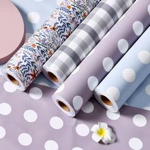 5MX60CM Vinyl Flower Pattern Self Adhesive Wallpaper Peel and Stick Wallpaper Bedroom Furniture Modification Removable Home Deco