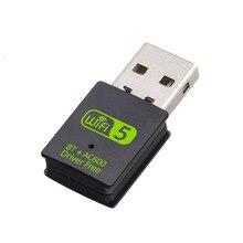 600Mbps USB WiFi Adapter Bluetooth dwuzakresowy 2.4/5.8Ghz bezprzewodowy odbiornik zewnętrzny RTL8821CU Adapter WiFi na PC/Laptop/pulpit