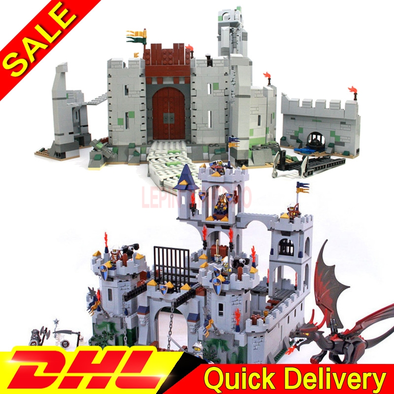LP 16017 Castle Kits LP 16013 Lord Of The Rings Battle Of Helm' Deep Building Block Legaoings Toys 7094 9474
