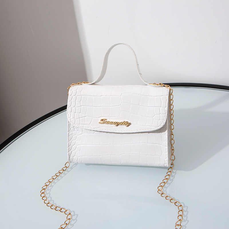 Bolsa de couro artificial de crocodilo feminina, bolsa crossbody para festas e clube, bolsa de ombro ajustável para mulheres, 2020