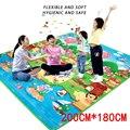 Детский игровой коврик толщиной 0 5 см  коврик для ползания с двойной поверхностью  Детский ковер  коврик для занятий в тренажерном зале  ковр...