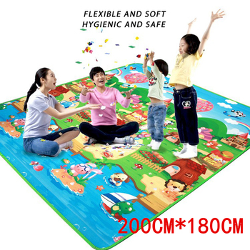 Baby Play Mat 0.5cm Thick Crawling Double Surface Carpet Rug Puzzle Activity Gym for Children Game Pad