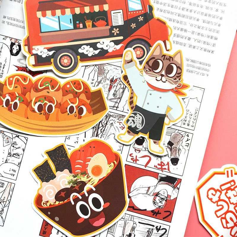 Aufkleber Laptop Festival Nette Katze Aufkleber Pack Kinder Spielzeug Wasserdichte Kawaii Lebensmittel Katze Graffiti Spielzeug für Kinder Aufkleber 31 teile/los