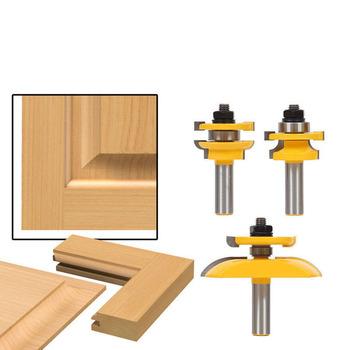3 sztuk 1 2 #8221 szyna trzonka i Stile Ogee ostrze Panel zestaw wierteł frezarskich frez elektronarzędzia drzwi nóż przyrząd do cięcia drewna tanie i dobre opinie vieruodis Woodworking Noże CN (pochodzenie) FA009-2 Narzędzia do obróbki drewna