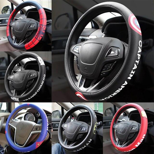 Cool Cartoon Car Steering Wheel Covers Case Comfortable Anti Slip Auto Steering Wheel Cover Car Accessories