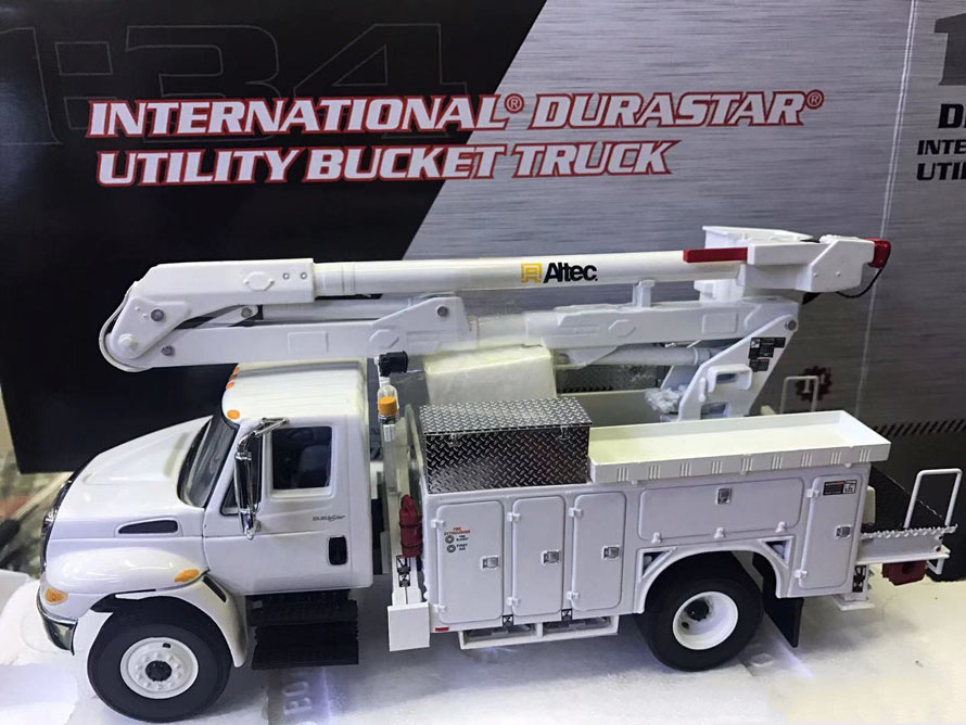 Collectible,Diecast Toy Model Gift FIRST GEAR 1:34 Scale Altec International Durastar Utility Bucket Truck Vehicles Alloy Model