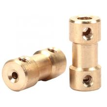5pcs Motor Gear Coupling Copper Shaft Coupler Coupling Connector Sleeve Transfer Joint Adapter Commonly Used For Shafts cnbtr 12mm dia shaft coupling motor connector diy steering steel universal joint