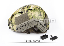 цена на Fma Tactical helmet Adjustment Speed Jump military airsoft outdoor helmet Leme Set Side Rail For Airsoft Paintball Tb1187 AOR2