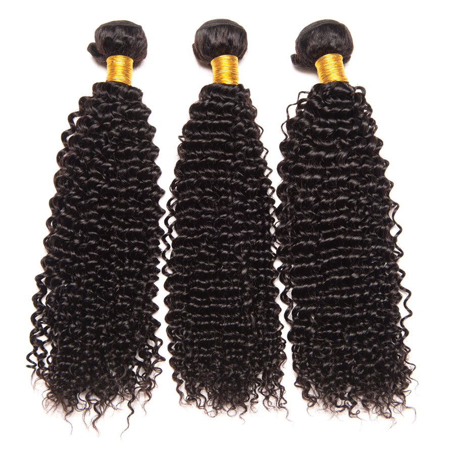 Afro Kinky Curly Hair Bundles Malaysian Hair 100% Human Hair Bundles Mslynn Remy Hair Extension Natural Color 3/4 PCS-in Hair Weaves from Hair Extensions & Wigs    1