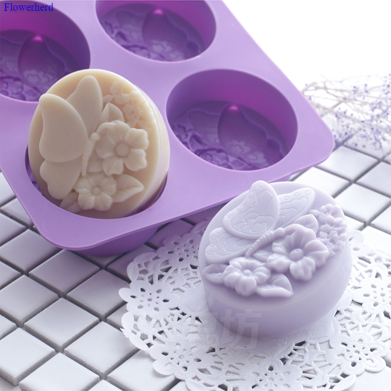 Butterfly Flower Dream Butterfly DIY Handmade Soap Silicone Mold New Soap Silicone Form Cake Decorating Tools Chocolate Mold