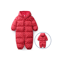 2019 Fall Winter Warm Infant Baby polka dot Rompers Down Jackets Fleece Overall Baby girl Boy Halloween Xmas Costume Clothes