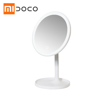 Xiaomi Mijia DOCO HD Makeup Mirror one-side round 360° Daylight Mirror USB Charging Touch Screen Adjustable Brightness