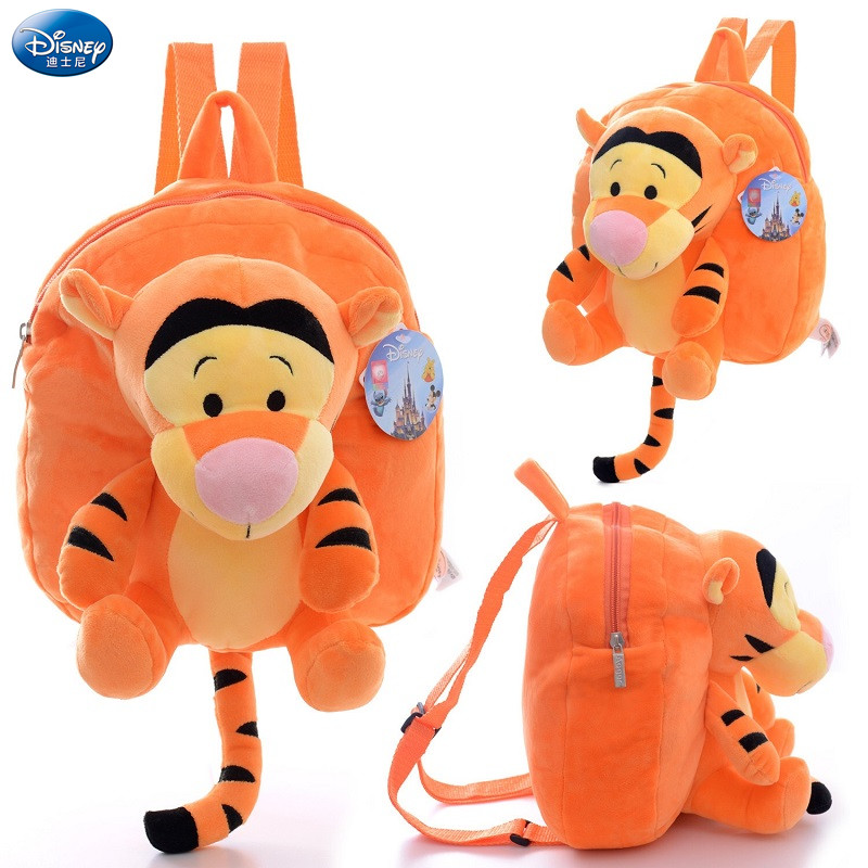 Genuine Authorization Disney Plush Dolls Toy Winnie The Pooh Mickey Mouse Mickey Minnie Jumping Tiger Plush Doll Children's  Bag