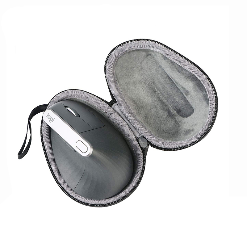 Wireless Mouse Case EVA Hard Bag For Logitech MX Vertical Advanced Ergonomic Mouse - Travel Protective Carrying Storage Bag