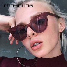 COOYOUNG New Women Cat Eye Sunglasses Fashion Sexy UV400 Sun Glasses Gradient Le