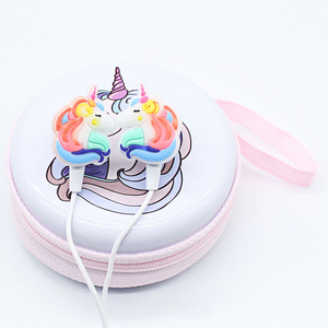 Image 4 - New Children Girl Cartoon Music Earphones Headphones Colorful Unicorn Wired Headset With Microphone Universal For Phone Gifts