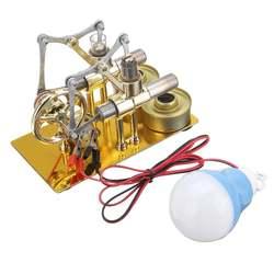 Stirling Motor Metall Doppel Zylinder Birne Wärme Dampf Bildung Motor Modell Physik Wissenschaft Power Generation Experiment Spielzeug