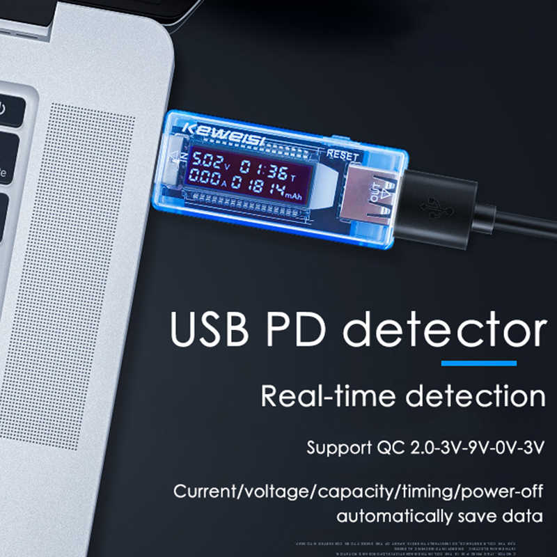 LCD USB Detector USB Volt Tegangan Dokter Charger Kapasitas Tester Meter Pengukur Tegangan Volt Pengukur Amper Power Bank Plug